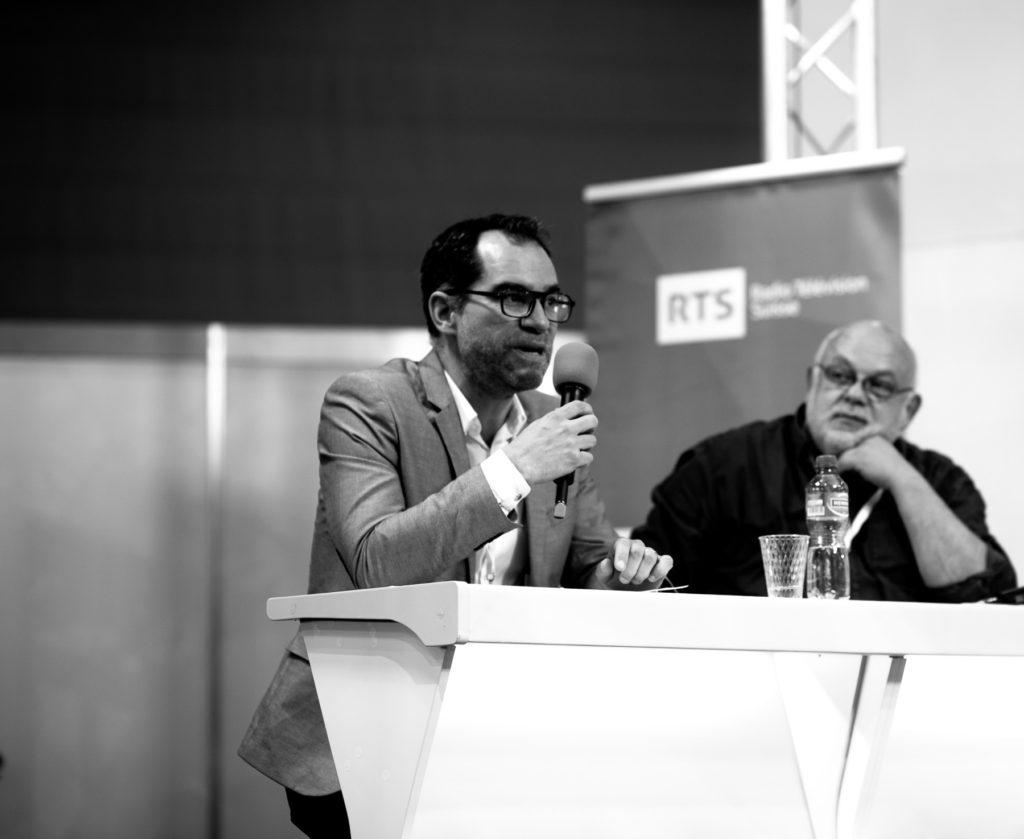 Grégoire Nappey durant la table ronde «Simplifier sans être simpliste».