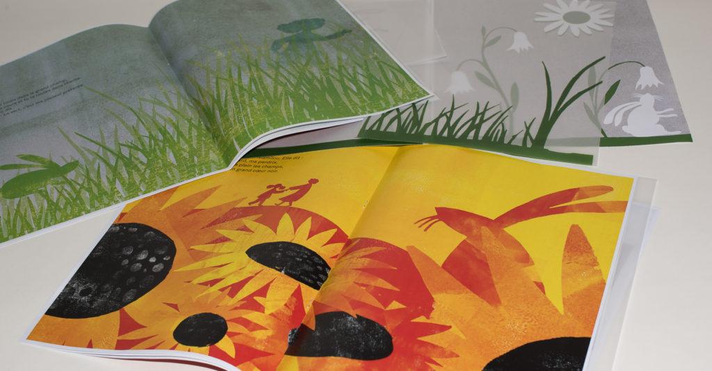 Photo de la maquette du livre Les yeux de Bianca