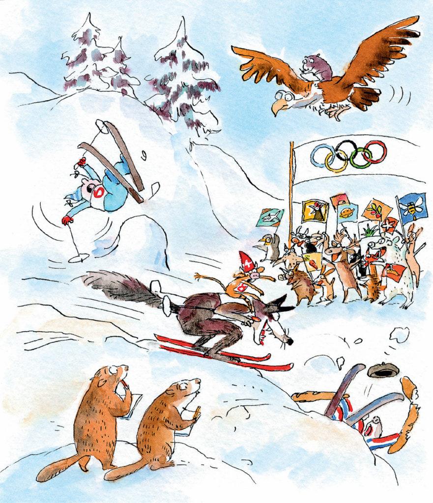 «Petchi aux sports d'hiver».