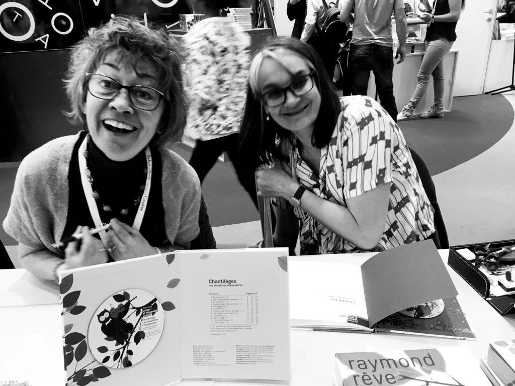 Fabienne Gay-Balmaz et Anne Crausaz, auteures de «Chantilèges: la polka des chats» et de «Chantilèges: les chouettes chaussettes».