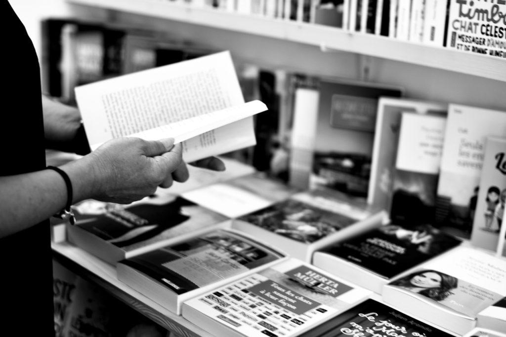 Ambiance dans la librairie «Page 2016», à Payerne.