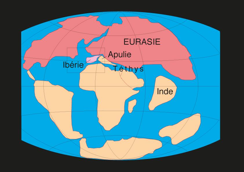Carte de l'Eocène