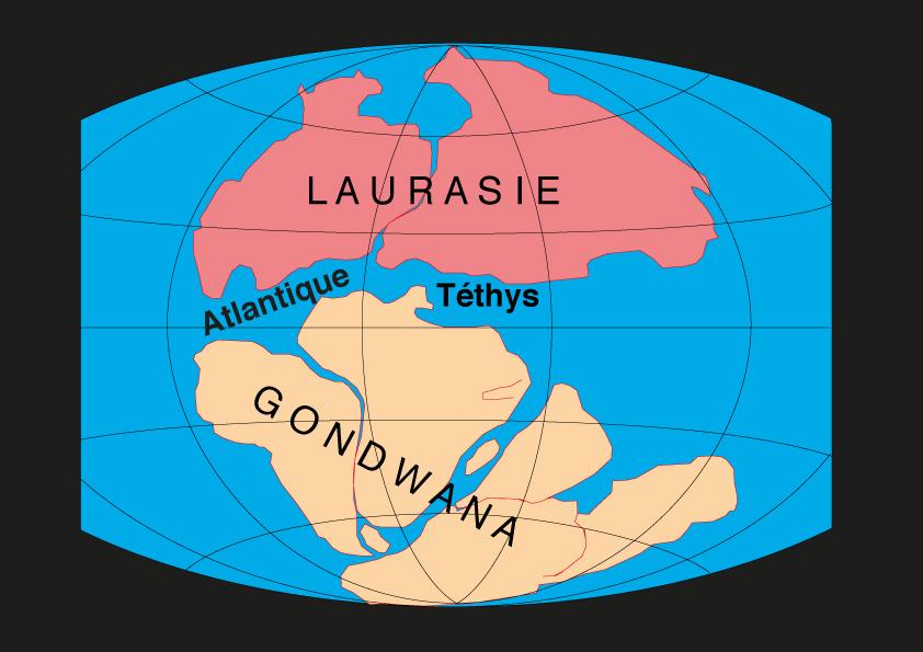 Carte du Jurassique