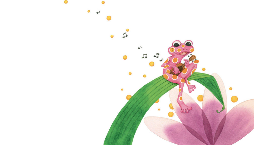 La grenouille à la guitare, illustration d'Annick Carretti