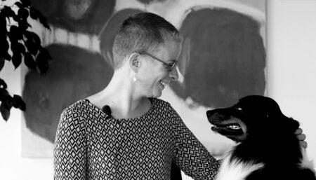 Katja Haunreiter et Héliott, la mascotte des éditions LEP