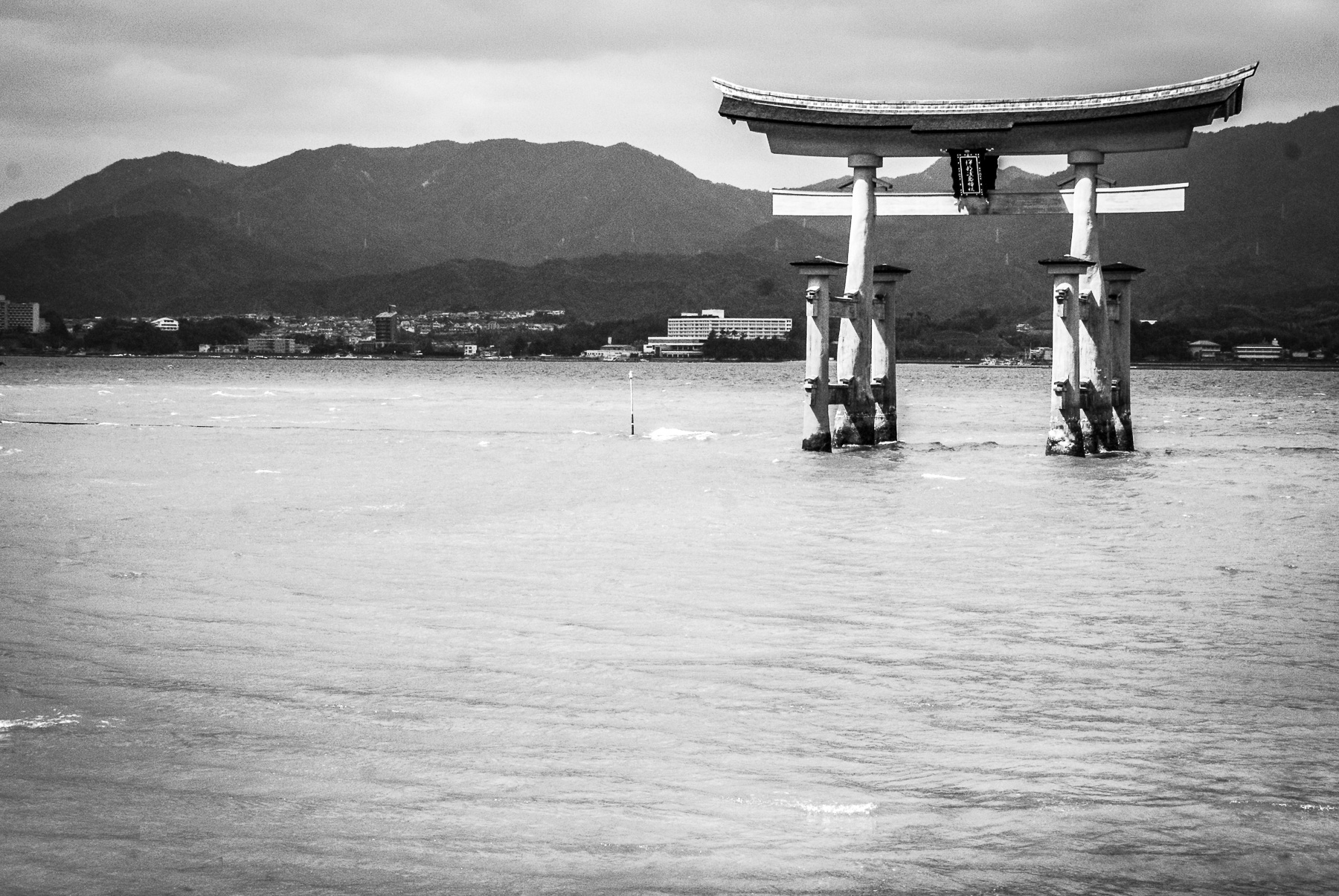 Le torii de Miyajima, les pieds dans l'eau.