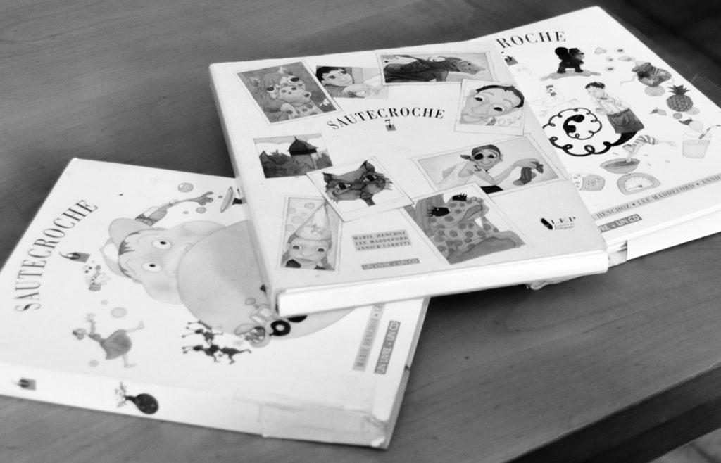 Les anciennes éditions des albums de Sautecroche