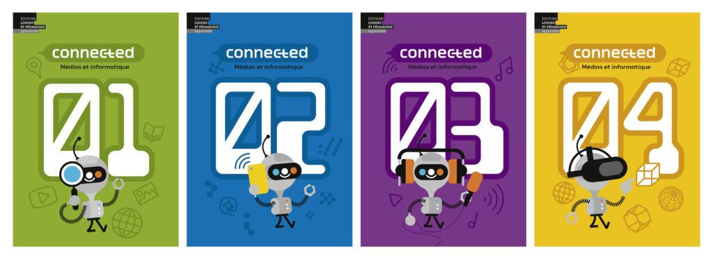 Couverture des quatre volumes de «Connected»