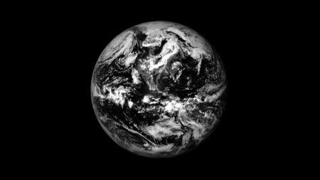 Photo de la Terre vue d el'espace.