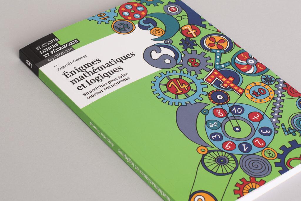 """Photo du livre """"Énigmes mathématiques et logiques"""" d'Augustin Genoud."""