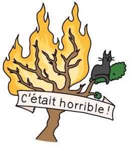 Illustration d'un arbre en feu.