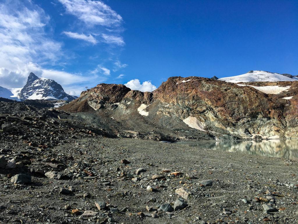 Paysage rocailleux dans les Alpes